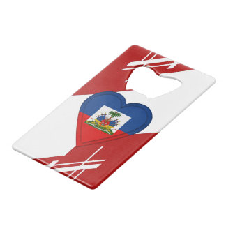 Haiti Haitian Flag Credit Card Bottle Opener