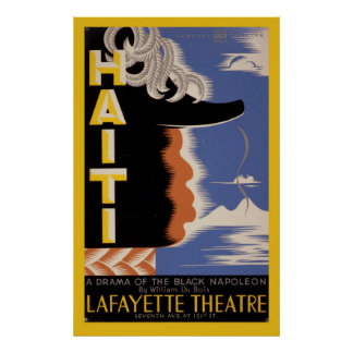 Haiti Harlem Lafayette Vintage WPA Federal Theatre Poster