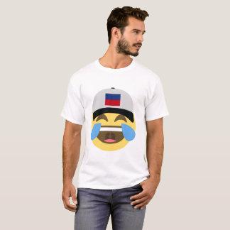 Haiti Hat Laughing Emoji T-Shirt