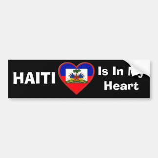 Haiti is In our hearts Bumper Sticker