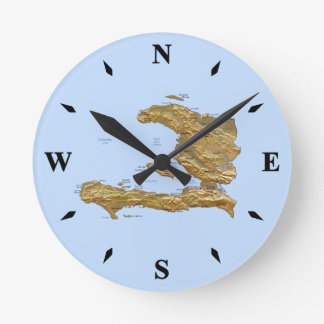 Haiti Map Clock