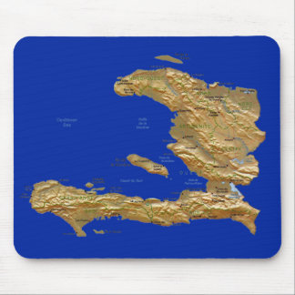 Haiti Map Mousepad
