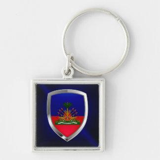 Haiti Metallic Emblem Keychain