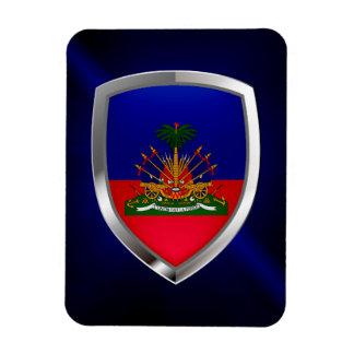 Haiti Metallic Emblem Magnet