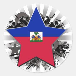 Haiti Star Classic Round Sticker