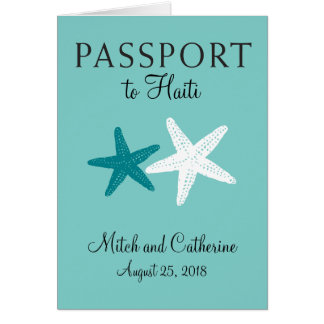 Haiti Starfish Wedding Passport Card