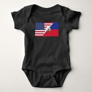 Haitian American Flag Baby Bodysuit