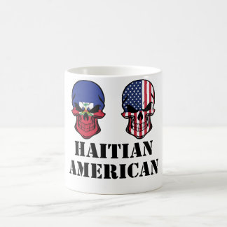 Haitian American Flag Skulls Coffee Mug