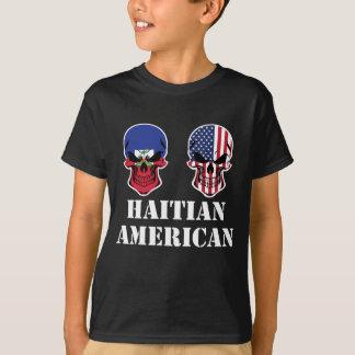 Haitian American Flag Skulls T-Shirt