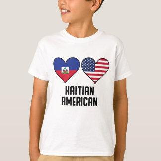 Haitian American Heart Flags T-Shirt