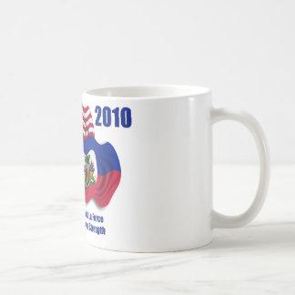 Haitian & American Waving Flags for Haiti Mugs