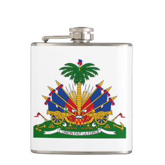 Haitian coat of arms Flask