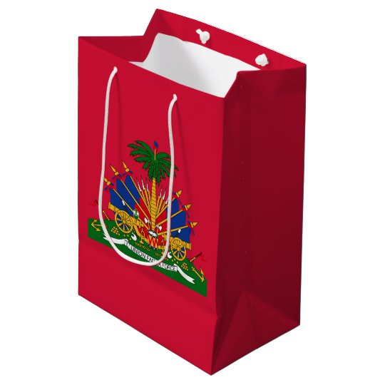 Haitian coat of arms medium gift bag