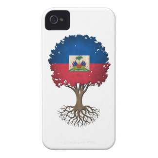 Haitian Flag Tree of Life Customizable iPhone 4 Cover