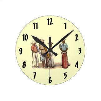 Haitian Street Musicians Clock