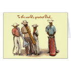 Haitian Street Musicians Fathers Day Card