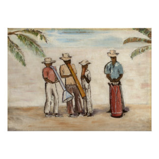 Haitian Street Musicians Poster