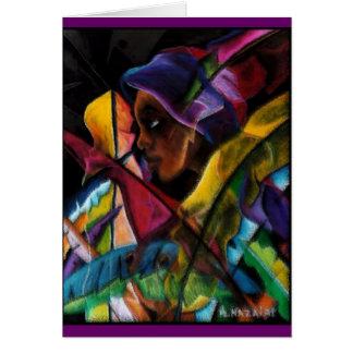 Haitienne en Vitraux Card
