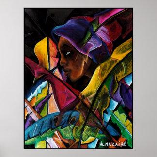 Haitienne en Vitraux I - en verre liquide Poster