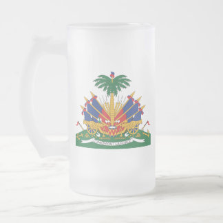 Haiti's Coat of arms Frosted Glass Beer Mug