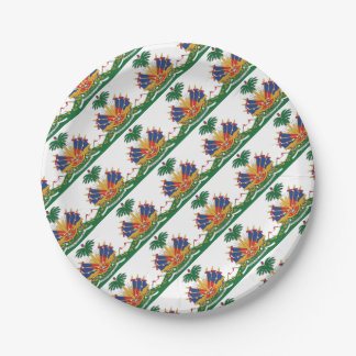 Haiti's Coat of arms Paper Plate