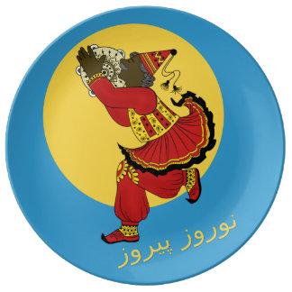 Haji Pirooz Blue Sky Persian New Year Porcelain Plate
