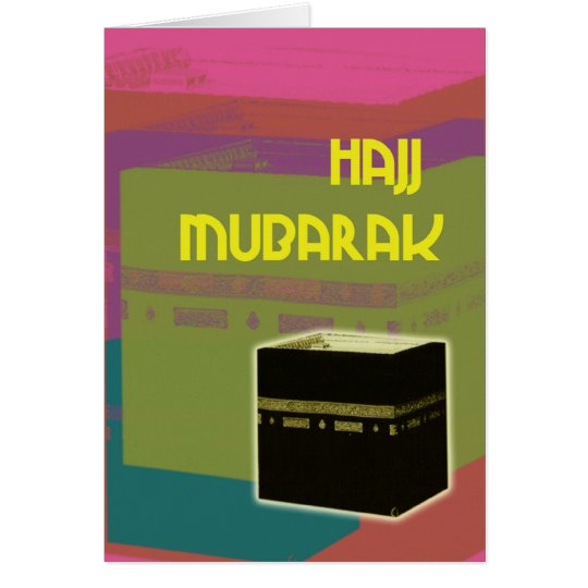 hajj mubarakah block colour card