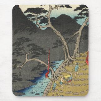Hakone, Japan: Vintage Ukiyo-e Woodblock Print Mouse Pad
