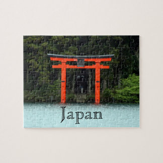 hakone red torii japan jigsaw puzzle