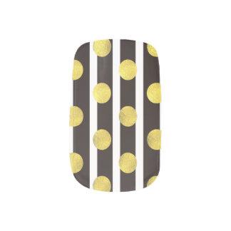 Haku + Shikkoku - Japanese traditional color Minx Nail Art