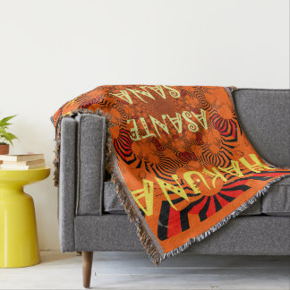 Hakuna Matata Asante Sana Zebra Print design Throw Blanket