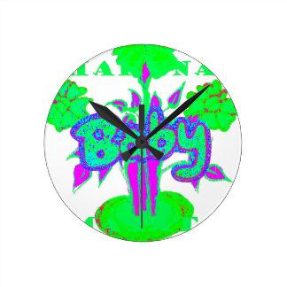 Hakuna Matata Baby bloom Wall Clock