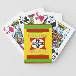 Hakuna Matata Beautiful amazing design Bicycle Playing Cards