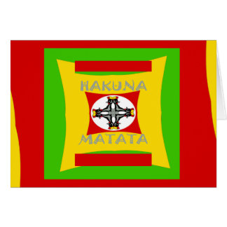 Hakuna Matata Beautiful amazing design Card