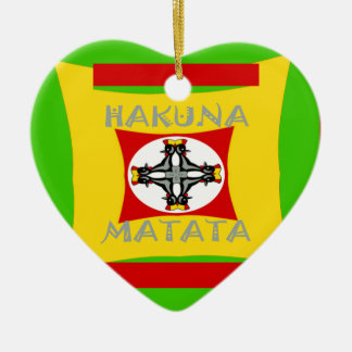 Hakuna Matata Beautiful amazing design Ceramic Heart Ornament