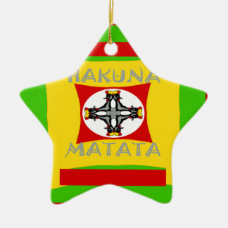 Hakuna Matata Beautiful amazing design Ceramic Star Ornament