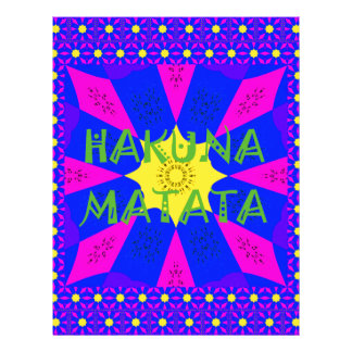 Hakuna Matata Beautiful Amazing Design Colors Custom Letterhead