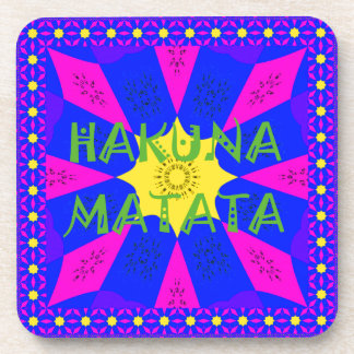 Hakuna Matata Beautiful Amazing Design Colors Drink Coaster