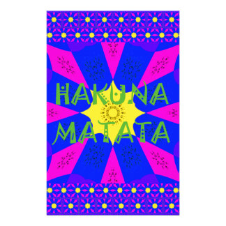 Hakuna Matata Beautiful Amazing Design Colors Stationery