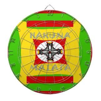 Hakuna Matata Beautiful amazing design Dartboard With Darts