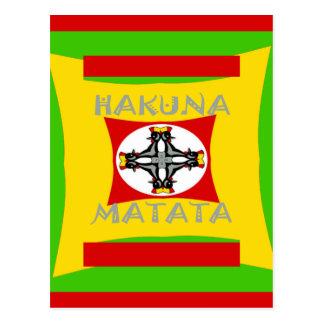 Hakuna Matata Beautiful amazing design Postcard