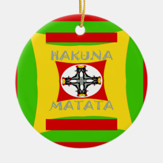 Hakuna Matata Beautiful amazing design Round Ceramic Ornament
