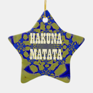 Hakuna Matata Beautiful amazing feminine African A Ceramic Ornament