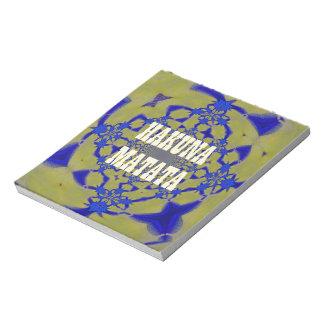 Hakuna Matata Beautiful amazing feminine African A Notepad