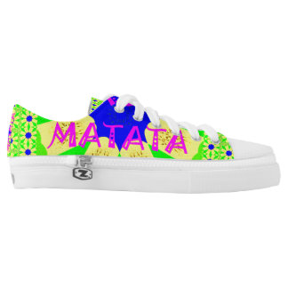 Hakuna Matata Colorful abstract floral design Low-Top Sneakers