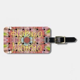 Hakuna Matata Cute Nice and Lovely Woven Design Luggage Tag