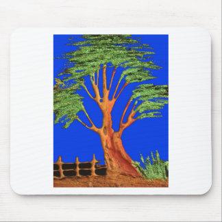 Hakuna Matata Eco Blue Green Acacia Tree. Mouse Pad