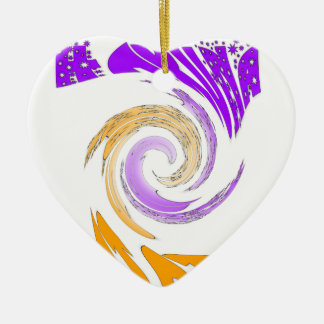 Hakuna Matata Gifts stars.png Ceramic Heart Ornament