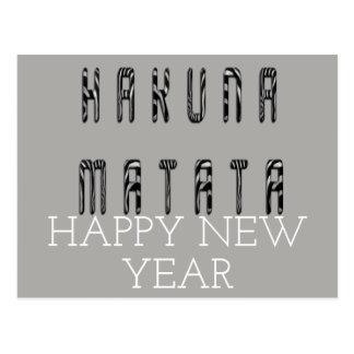 Hakuna Matata Happy New Year Postcard