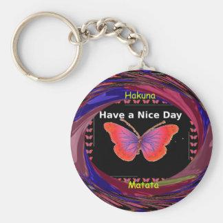 Hakuna Matata Have a Nice Day infinity Butterfly c Keychain